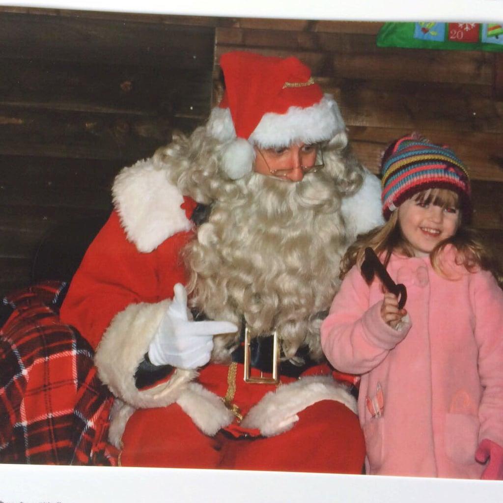 Santa and Lily at Willows Farm